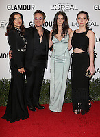 LOS ANGELES, CA - NOVEMBER 14: Alison Hewson, Bono, Eve Hewson and Jordan Hewson at  Glamour's Women Of The Year 2016 at NeueHouse Hollywood on November 14, 2016 in Los Angeles, California. Credit: Faye Sadou/MediaPunch