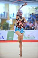 Aliya Garaeva of Azerbaijan performs during event finals  at 2010 Grand Prix Marbella at San Pedro Alcantara, Spain on May 16, 2010. Aliya placed 7th AA at Marbella 2010. (Photo by Tom Theobald).