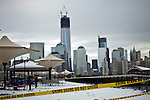 United States, New Jersey. General view of the One World Trade Center after the pass of the nor'easter winter storm from Exchange Place in New Jersey. 08/11/2012. Photo by Eduardo Munoz Alvarez / VIEWpress.