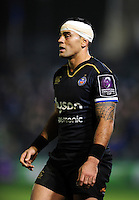 Kahn Fotuali'i of Bath Rugby looks on. European Rugby Challenge Cup match, between Bath Rugby and Cardiff Blues on December 15, 2016 at the Recreation Ground in Bath, England. Photo by: Patrick Khachfe / Onside Images