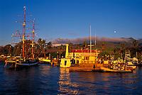 The historic brig the Carthaginian III at Lahaina Harbor, Maui