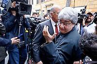 Roma  23 Aprile 2013.Si riunusce  la direzione nazionale del Partito Democratico. Ermete Realacci