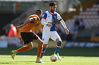 Blackburn Rovers' Danny Graham out runs Wolverhampton Wanderers' Romain Saiss<br /> <br /> Photographer Rachel Holborn/CameraSport<br /> <br /> The EFL Sky Bet Championship - Wolverhampton Wanderers v Blackburn Rovers - Saturday 22nd April 2017 - Molineux - Wolverhampton<br /> <br /> World Copyright &copy; 2017 CameraSport. All rights reserved. 43 Linden Ave. Countesthorpe. Leicester. England. LE8 5PG - Tel: +44 (0) 116 277 4147 - admin@camerasport.com - www.camerasport.com