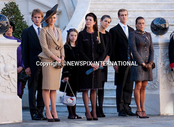 "Monaco Royal Family.MONACO NATIONAL DAY 2010 (Fête Nationale Monégasque 2010).The Royal Family attend the Award Ceremony at the Prince's Palace as part of Monaco's National Day celebrations. Monaco_19/11/2010..Mandatory Photo Credit: ©Dias/Newspix International..**ALL FEES PAYABLE TO: ""NEWSPIX INTERNATIONAL""**..PHOTO CREDIT MANDATORY!!: NEWSPIX INTERNATIONAL(Failure to credit will incur a surcharge of 100% of reproduction fees)..IMMEDIATE CONFIRMATION OF USAGE REQUIRED:.Newspix International, 31 Chinnery Hill, Bishop's Stortford, ENGLAND CM23 3PS.Tel:+441279 324672  ; Fax: +441279656877.Mobile:  0777568 1153.e-mail: info@newspixinternational.co.uk"