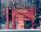 "Washington, DC - February 20, 2001 -- ""Ellis"" drop sign on the ""Foxstone Park"" sign in Vienna, Virginia..Credit: FBI via CNP"