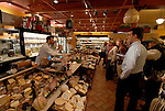 DiBruno Brothers cheese and gourmet food shop.  Tour learning about cheese..Philadelphia, Pennsylvania, PA USA.  Photo copyright Lee Foster, 510-549-2202, lee@fostertravel.com, www.fostertravel.com.  Photo 324-30682