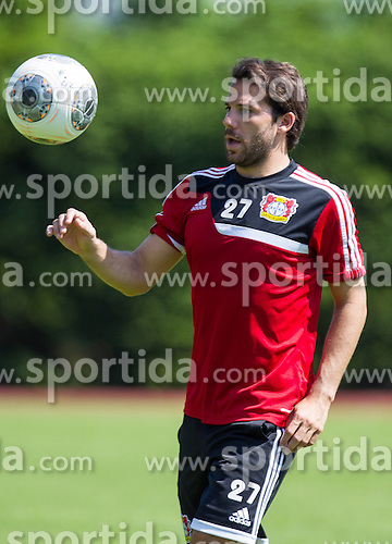 17.07.2013, Alois Latini Stadion, Zell am See, AUT, Bayer 04 Leverkusen Trainingslager, im Bild Gonzalo Castro, (Bayer 04 Leverkusen) // during a Trainingssession of the German Bundesliga Club Bayer 04 Leverkusen at the Alois Latini Stadium, Zell am See, Austria on 2013/07/17. EXPA Pictures © 2013, PhotoCredit: EXPA/ Juergen Feichter