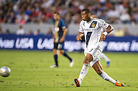 CARSON, CA - July 4, 2012: LA Galaxy defender David Junior Lopes (3) during the LA Galaxy vs Philadelphia Union match at the Home Depot Center in Carson, California. Final score LA Galaxy 1, Philadelphia Union 2.