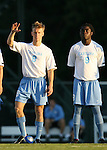 2 September 2007: North Carolina's Garry Lewis (8) and Eddie Ababio (9). The University of North Carolina Tar Heels tied the Old Dominion University Monarchs 1-1 at Fetzer Field in Chapel Hill, North Carolina in an NCAA Division I Men's Soccer game.