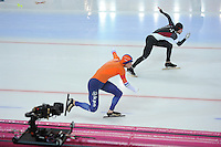 SPEED SKATING: HAMAR: Vikingskipet, 04-03-2017, ISU World Championship Allround, 500m Men, Sven Kramer (NED), Haralds Silovs (LAT), ©photo Martin de Jong