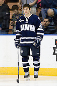 Kevin Goumas (UNH - 27) - The University of Notre Dame Fighting Irish defeated the University of New Hampshire Wildcats 2-1 in the NCAA Northeast Regional Final on Sunday, March 27, 2011, at Verizon Wireless Arena in Manchester, New Hampshire.