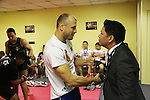 Igor Svirid, One middleweight world champion from Kazakstan in Red locker room with CEO of ONE Victor Cui<br />