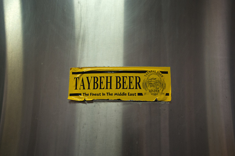 PALESTINE Taybeh, West Bank<br /> <br /> Taybeh Brewery Company:<br /> <br /> A sticker carries the brewery's logo.