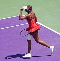 Venus WILLIAMS (USA) against Marion BARTOLI (FRA) in the semi-finals of the women's singles. Venus Williams beat Marion Bartoli 6-3 6-4..International Tennis - 2010 ATP World Tour - Sony Ericsson Open - Crandon Park Tennis Center - Key Biscayne - Miami - Florida - USA - Thu 1 Apr 2010..© Frey - Amn Images, Level 1, Barry House, 20-22 Worple Road, London, SW19 4DH, UK .Tel - +44 20 8947 0100.Fax -+44 20 8947 0117