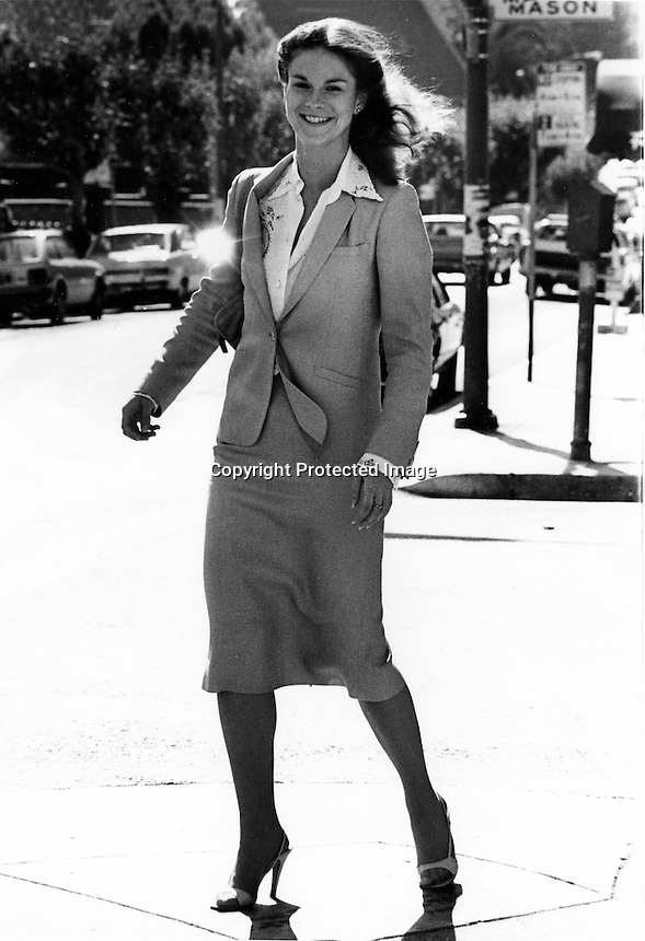 Christie Hefner, (daughter of Hugh) on the street in San Francisco. (photo/Ron Riesterer)