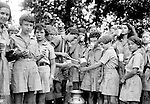 East McKeesport PA:  Girl Scouts taking a break for water - Camp Youghahela, Pennsylvania 1925