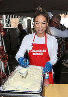 Los Angeles, CA - NOVEMBER 23: Dorothy Wang, At Los Angeles Mission Thanksgiving Meal For The Homeless At Los Angeles Mission, California on November 23, 2016. Credit: Faye Sadou/MediaPunch