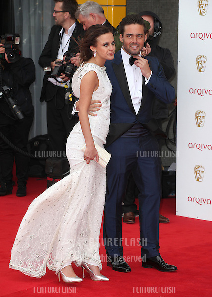 Lucy Watson and Spencer Matthews arriving for the TV BAFTA Awards 2013, Royal Festival Hall, London. 12/05/2013 Picture by: Alexandra Glen / Featureflash