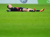 FUSSBALL   1. BUNDESLIGA   SAISON 2011/2012   19. SPIELTAG Werder Bremen - Bayer 04 Leverkusen                    28.01.2012 Andre Schuerrle (Bayer 04 Leverkusen) enttaeuscht am Boden