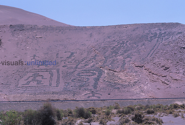 Chiza Geoglyph, Atacama Desert, Chile.