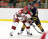Matt McCollem (Harvard - 23), Yuri Bouharevich (Quinnipiac - 13) - The visiting Quinnipiac University Bobcats defeated the Harvard University Crimson 3-1 on Wednesday, December 8, 2010, at Bright Hockey Center in Cambridge, Massachusetts.