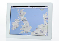 Apple Ipad showing Map App - Jan 2013.