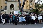 Tor Sapienza, manifestazione  per la chiusura del campo Rom di Via Salviati