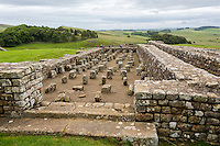 Northumberland,  England, UK.  Granary at Housesteads Roman Fort (Vercovicium).