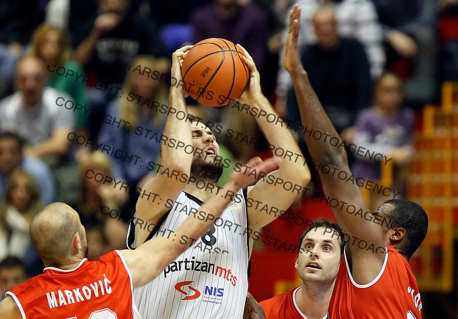 Kosarka, ABA League, season 2010/2011.Partizan Vs. Radnicki (Kragujevac).Miroslav Raduljica, center.Belgrade, 16.10.2011..foto: Srdjan Stevanovic/Starsportphoto.com ©