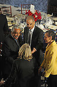 Washington, DC - January 20, 2009 -- United States Representative Charlie Rangel (Democrat of New York) and Attorney General nominee Eric Holder at the luncheon at Statuary Hall in the U.S. Capitol in Washington DC following Barack Obama's swearing in as the 44th President of the United States on January 20, 2009..Credit: Amanda Rivkin - Pool via CNP