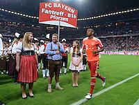 FUSSBALL   1. BUNDESLIGA  SAISON 2012/2013   5. Spieltag FC Bayern Muenchen - VFL Wolfsburg    25.09.2012 Jerome Boateng (FC Bayern Muenchen)  vor der Blaskapelle in der Allianz Arena