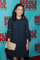 NEW YORK, NY - OCTOBER 01:  Jessi Goei attends the New York Screening of Middle School: The Worst Years of My Life at Regal E-Walk on October 1, 2016 in New York City. Photo Credit: John Palmer/MediaPunch