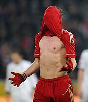 FUSSBALL   1. BUNDESLIGA   SAISON 2011/2012   18. SPIELTAG Borussia Moenchengladbach - FC Bayern Muenchen    20.01.2012 Bastian Schweinsteiger (Bayern) ist enttaeuscht xxNOxMODELxRELEASExx