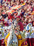 Personal Work<br /> <br /> FSU mascot Osceola atop the new Renegade Vl on a day that saw Renegade V retired in an NCAA football game in Tallahassee, FL October 4, 2014.