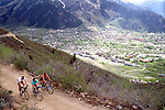 Riding up Smuggler Mountain, Aspen, CO, 1988