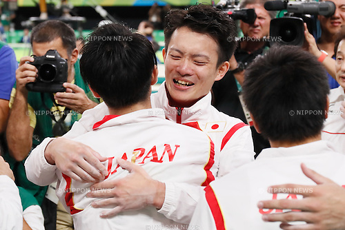 Yusuke Tanaka (JPN), <br /> AUGUST 8, 2016 - Artistic Gymnastics : <br /> Men's Final  <br /> Floor Exercise <br /> at Rio Olympic Arena <br /> during the Rio 2016 Olympic Games in Rio de Janeiro, Brazil. <br /> (Photo by Sho Tamura/AFLO SPORT)