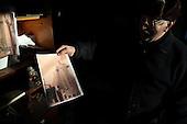 Rzaska, Poland, March 1, 2011.Welder is showing visualization of the monument of pope John Paul II that he is working on at the moment, by Czeslaw Dzwigaj. Dzwigaj has made over 70 sculptures of the late pope. .(Photo by Piotr Malecki / Napo Images)..Rzaska, 1/03/2011: Spawacz pokazuje rysunek pomnika papieza Jana Pawla II nad ktorym obecnie pracuje..Fot: Piotr Malecki / Napo Images.