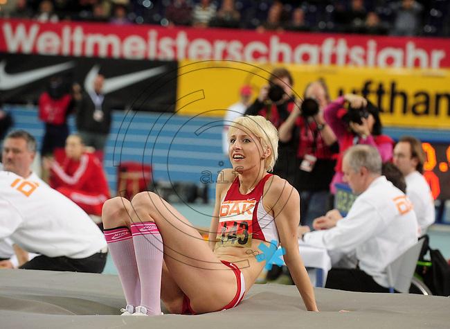 Leichtathletik - DHM 2009 Deutsche Hallenmeisterschaften - ARENA Leipzig - Track and Field - im Bild: Hoichsprung Frauen - ISt es ihr Weltmeisterschaftsjahr ??? Hochspringerin Ariane Freidrich (LG EIntracht Frankfurt)..Foto: Norman Rembarz..Norman Rembarz, Holbeinstr. 14, 04229 Leipzig, Hypo-Vereinsbank, BLZ: 86020086, Kto: 357889472, Ust. ID.: DE 256991963 St. Nr.: 231/261/06432 !!!!!!  Honorar zuzüglich 7 % Mwst !!!!!!!!