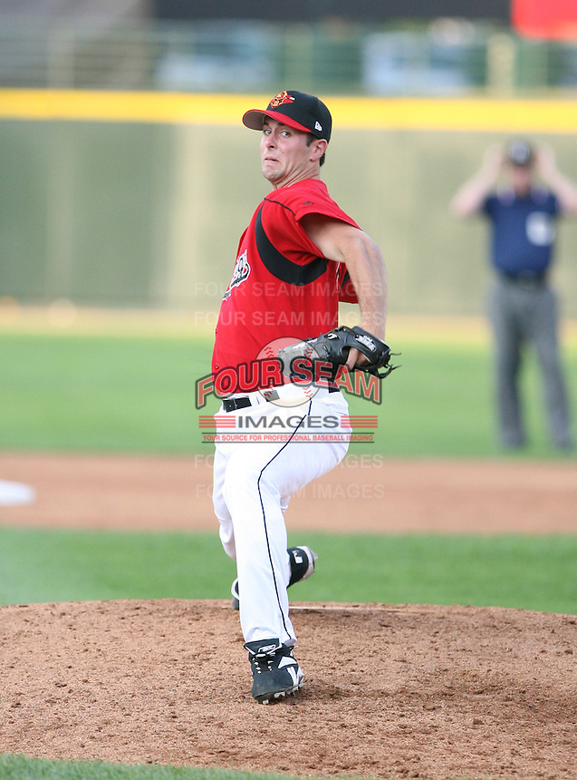 July 6th, 2007:  Brad Baker of the Rochester Red Wings, Class-AAA affiliate of the Minnesota Twins, during the International League baseball season.  Photo By Mike Janes/Four Seam Images