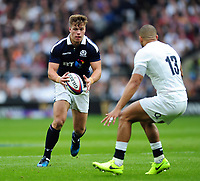 Huw Jones of Scotland in possession. RBS Six Nations match between England and Scotland on March 11, 2017 at Twickenham Stadium in London, England. Photo by: Patrick Khachfe / Onside Images