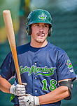 8 July 2015: Vermont Lake Monsters infielder Chris Iriart awaits his turn in the batting cage prior to a game against the Mahoning Valley Scrappers at Centennial Field in Burlington, Vermont. The Lake Monsters defeated the Scrappers 9-4 to open the home game series of NY Penn League action. Mandatory Credit: Ed Wolfstein Photo *** RAW Image File Available ****