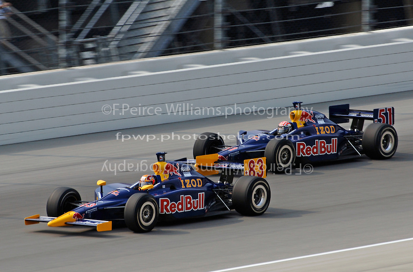 11 September, 2005, Joliet,IL,USA<br /> Patrick Carpentier and Alex Barron.<br /> Copyright&copy;F.Peirce Williams 2005