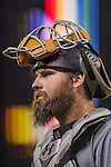 22 July 2016: San Diego Padres catcher Derek Norris in action against the Washington Nationals at Nationals Park in Washington, DC. The Padres defeated the Nationals 5-3 to take the first game of their 3-game, weekend series. Mandatory Credit: Ed Wolfstein Photo *** RAW (NEF) Image File Available ***