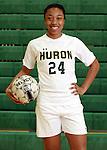 2013 Huron High School girl's varsity and JV soccer teams