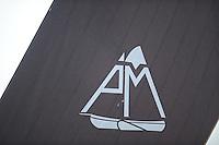 ZEILEN: DE VEENHOOP, Wide Ie, Grytmansrak, 21-07-2014, 2e wedstrijd SKS skûtsjesilen, Logo skûtsje 'Eildert Sietez' Akkrum, ©foto Martin de Jong