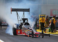 Mar 18, 2016; Gainesville, FL, USA; NHRA top fuel driver Ike Maier during qualifying for the Gatornationals at Auto Plus Raceway at Gainesville. Mandatory Credit: Mark J. Rebilas-USA TODAY Sports