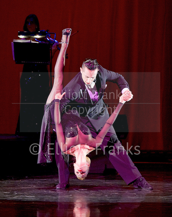 Tango Fire <br /> at The Peacock Theatre, London, Great Britain <br /> press photocall <br /> 30th January 2017 <br /> <br /> -----------<br /> <br /> Gallo Ciego <br /> <br /> Marcos Esteban Roberts &amp; Louise Junqueira Malucelli <br /> <br /> --------------<br /> <br /> Photograph by Elliott Franks <br /> Image licensed to Elliott Franks Photography Services
