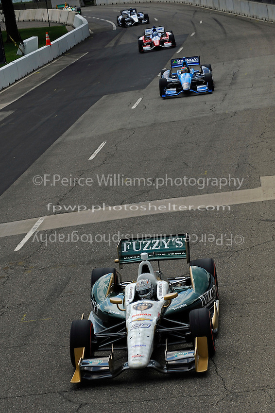 Ed Carpenter (#20), Rubens Barrichello (#8), James Jakes (#19) and Alex Tagliani (#98)