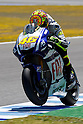 May 1, 2010 - Jerez, Spain - Fiat Yamaha Team's Italian Valentino Rossi powers his bike during a free Moto GP practice session at Jerez de la Frontera's circuit on May 1, 2010. (Photo Andrew Northcott/Nippon News).