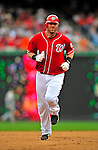 24 May 2009: Washington Nationals' first baseman Adam Dunn rounds the bases after hitting a two-run homer against the Baltimore Orioles at Nationals Park in Washington, DC. Dunn hit two home runs for the day including a Grand Slam as the Nationals rallied to defeat the Orioles 8-5 and salvage one win of their interleague series. Mandatory Credit: Ed Wolfstein Photo